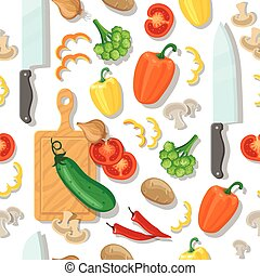 warzywa, cięcie deska, seamless