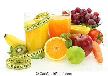 warzywa, dieta, sok, owoce, świeży, nutrition.