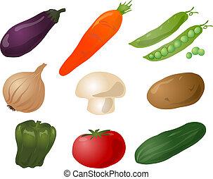 warzywa, ilustracja