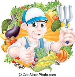 warzywa, ogrodnik