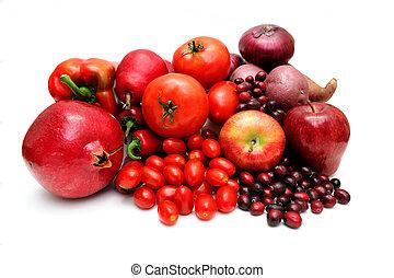warzywa, owoc, czerwony