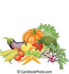 warzywa, smakowity, ilustracja
