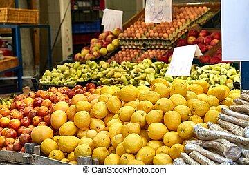 warzywa, targ, owoce