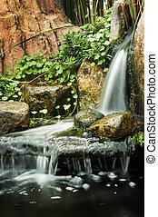 waterfalls., ogród