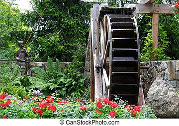 waterwheel, kwiat ogród