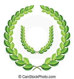 wawrzyny, zielony