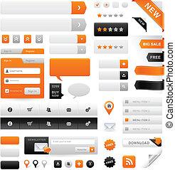 website, komplet, grafika