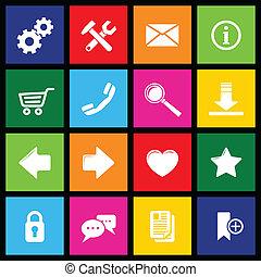 website, metro, ikony