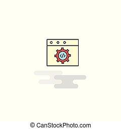 website, płaski, icon., wektor, programowanie