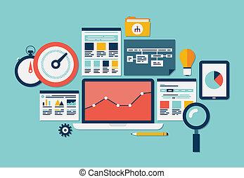 website, seo, analytics, ikony