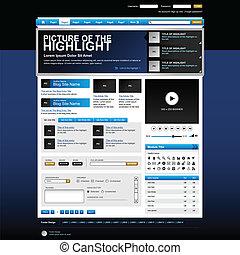 website, sieć, wektor, zaprojektujcie element