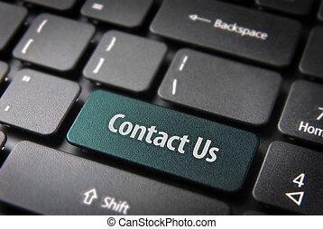 website, szablon, sekcja, klucz, na, kontakt, tło, klawiatura