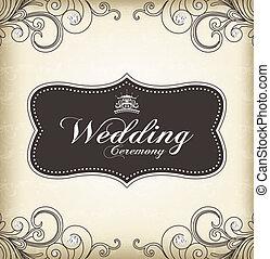 (wedding, rocznik wina, ułożyć, ceremony)