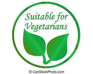 wegetarianin, liść