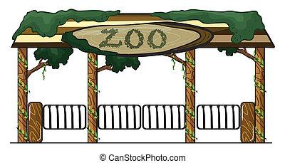 wejście, ogród zoologiczny