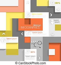 wektor, 10., illustration., eps, infographic, miejsce, szablon, twój, content.