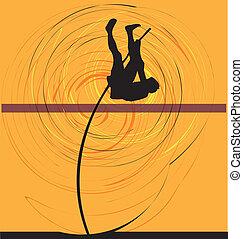 wektor, atleta, ilustracja