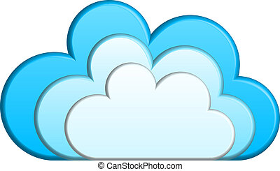 wektor, chmury, ilustracja