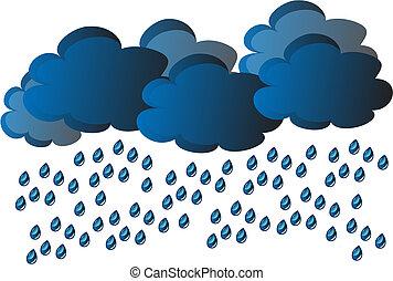 wektor, deszcz