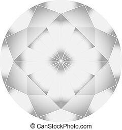 wektor, diament, ilustracja