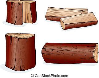 wektor, drewno
