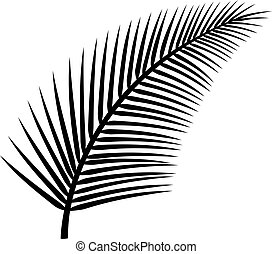 wektor, drzewo, dłoń liść, ilustracja
