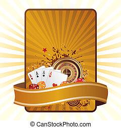 wektor, elementy, kasyno
