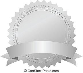 wektor, emblemat, srebro, nagroda