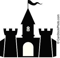 wektor, forteca, ikona