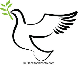 wektor, gołębica, 2, -