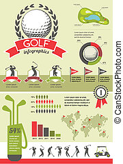 wektor, golf, infographics