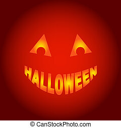 wektor, halloween, duch