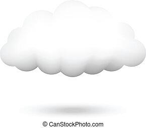 wektor, ilustracja, chmura