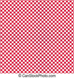wektor, klatkowy, czerwony
