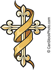 wektor, krzyż, ilustracja