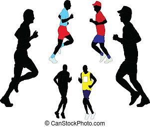 wektor, -, maraton