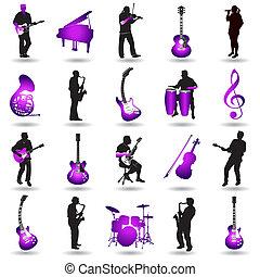 wektor, muzyka, elementy