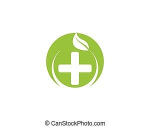 wektor, natura, zdrowie, logo