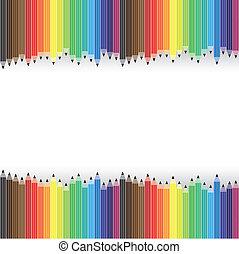 wektor, ołówki, graficzny, załatwiony, barwny, background-, hałasy