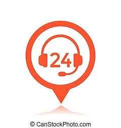 wektor, poparcie, 24, ikona