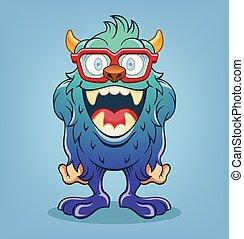 wektor, potwór, ilustracja, rysunek