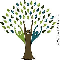 wektor, projektować, drzewo, swoboda, logo., graficzny