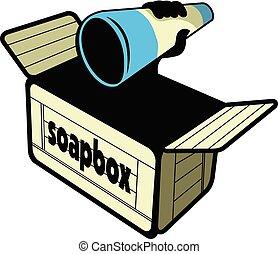 wektor, projektować, soapbox