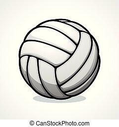 wektor, projektować, volleyball piłka, ikona