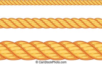 wektor, seamless, ilustracja, rope.