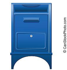 wektor, skrzynka pocztowa, ilustracja, ikona