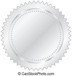 wektor, srebro, ilustracja, znak
