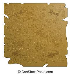 wektor, stary, -, ilustracja, papier, bac
