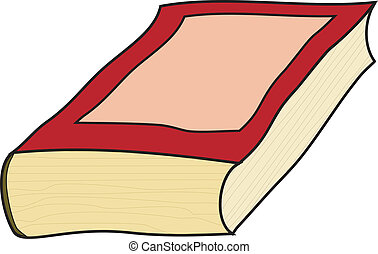 wektor, stary, książka, ilustracja