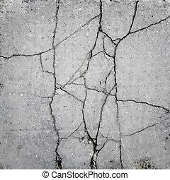 wektor, struktura, asfalt, trzaskać